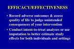 efficacy effectiveness1