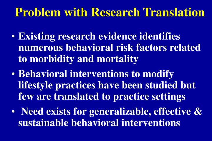 Problem with Research Translation
