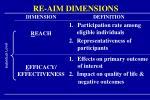 re aim dimensions