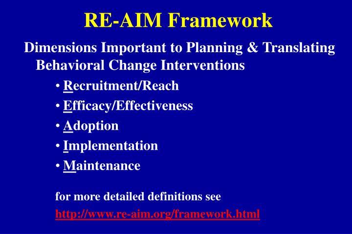 RE-AIM Framework