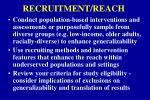 recruitment reach