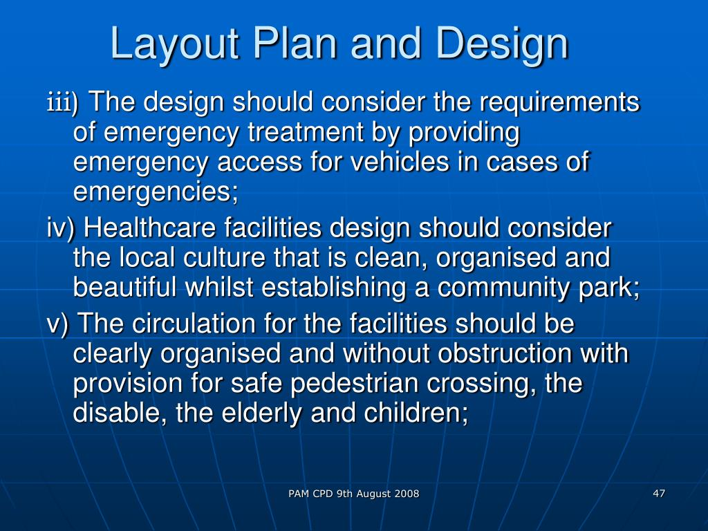 Layout Plan and Design