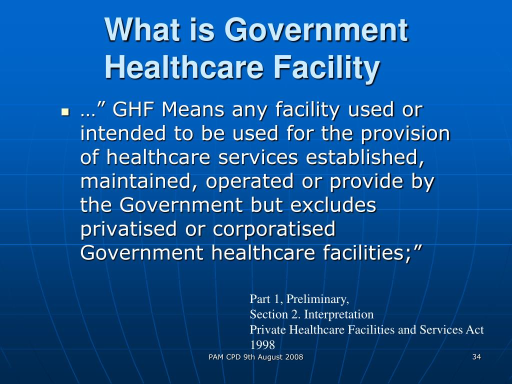What is Government Healthcare Facility