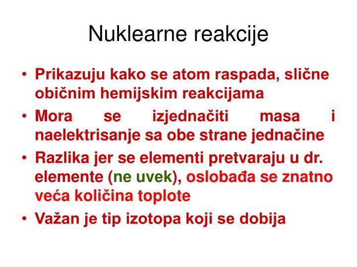 Nuklearne reakcije