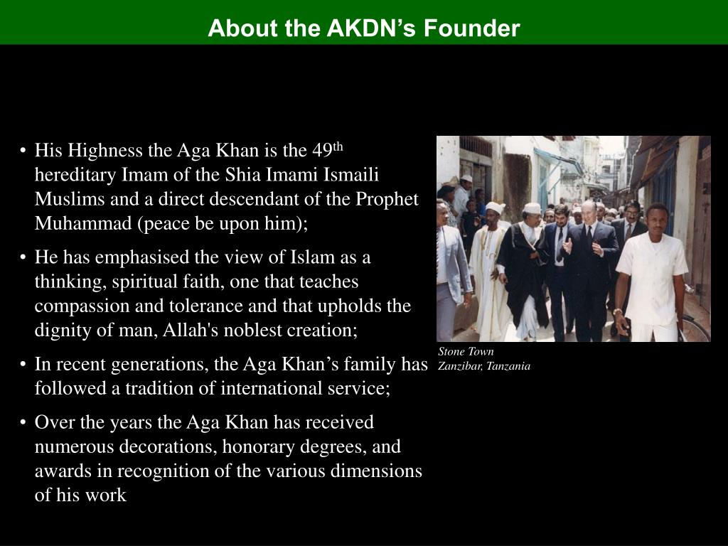 About the AKDN's Founder