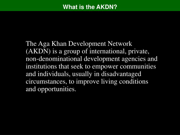 What is the akdn