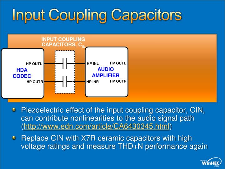 Input Coupling Capacitors