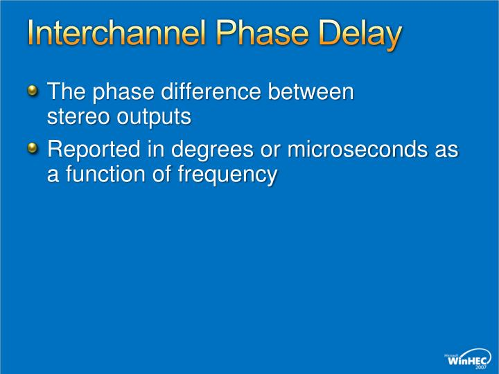 Interchannel Phase Delay