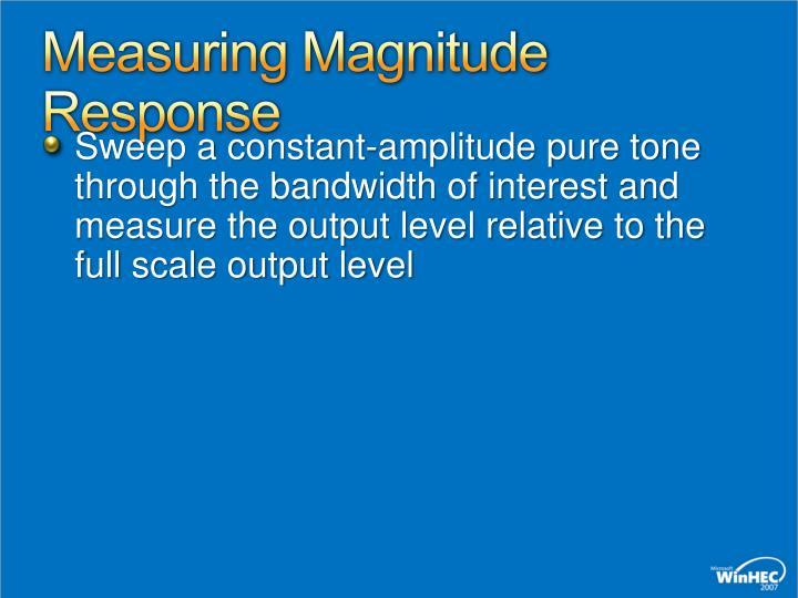 Measuring Magnitude Response