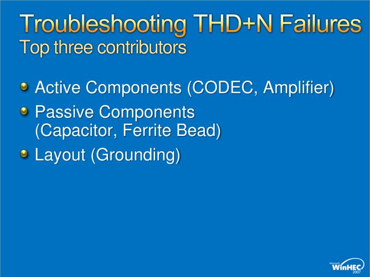 Troubleshooting THD+N Failures