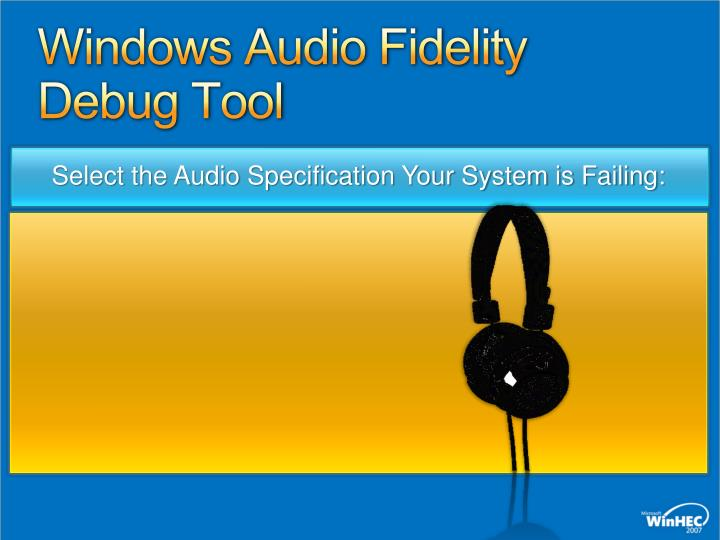 Windows Audio Fidelity