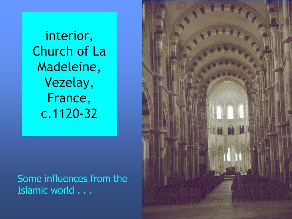 interior, Church of La Madeleine, Vezelay, France, c.1120-32