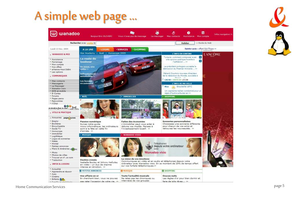 A simple web page …