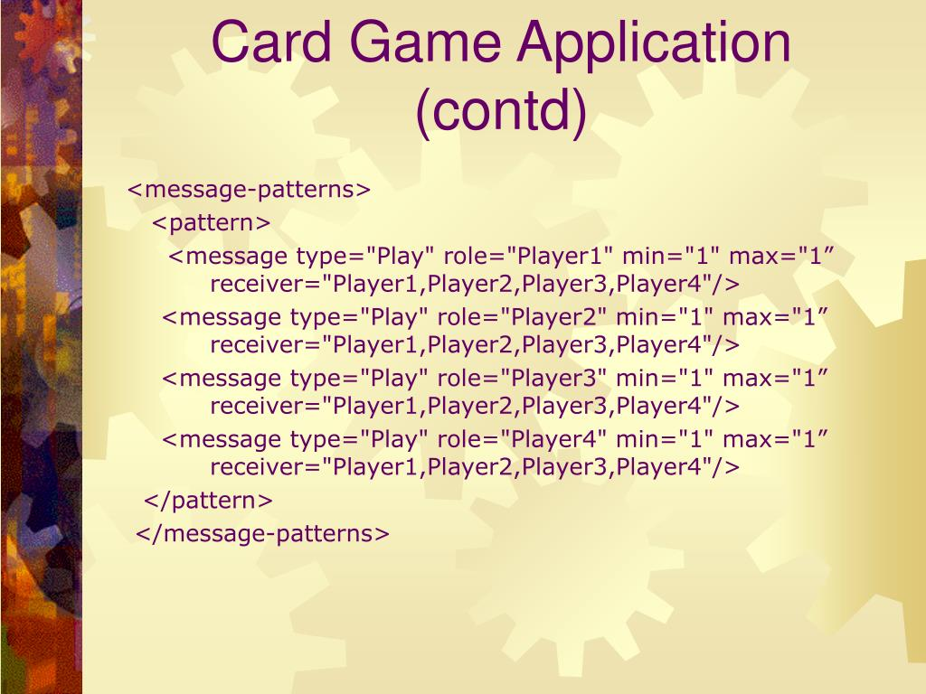 Card Game Application (contd)