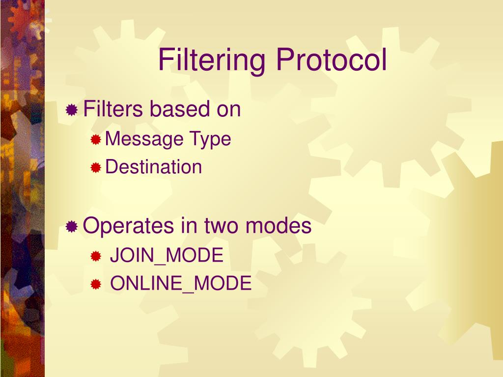 Filtering Protocol