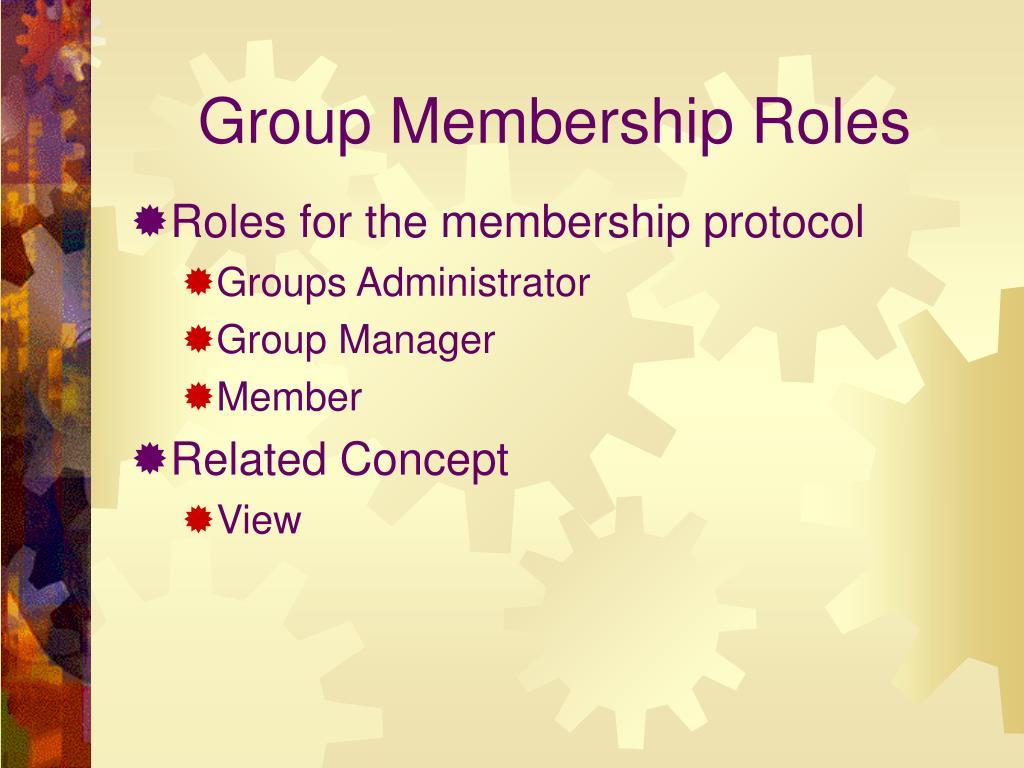 Group Membership Roles