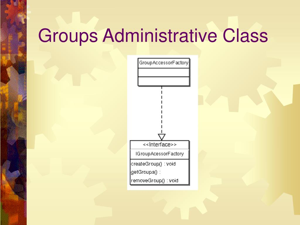 Groups Administrative Class