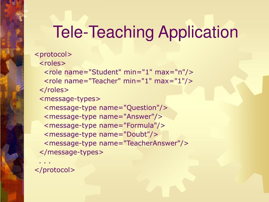 Tele-Teaching Application