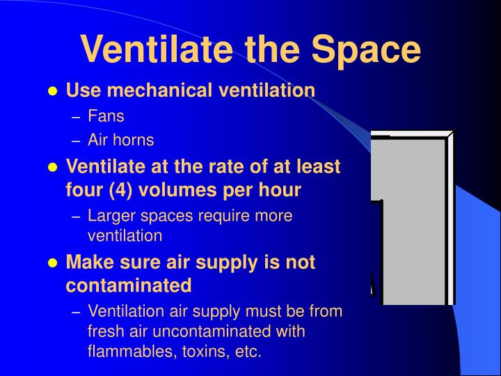 Ventilate the Space