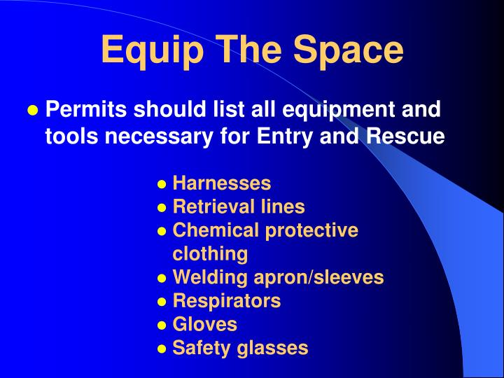 Equip The Space