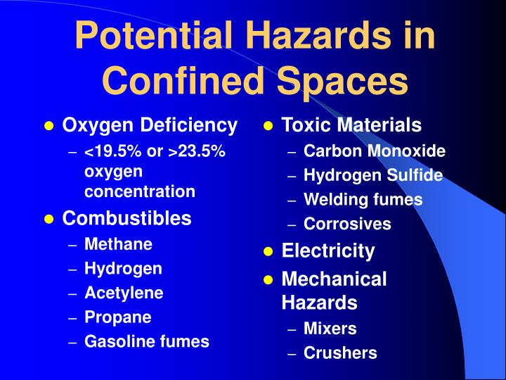 Potential Hazards in Confined Spaces