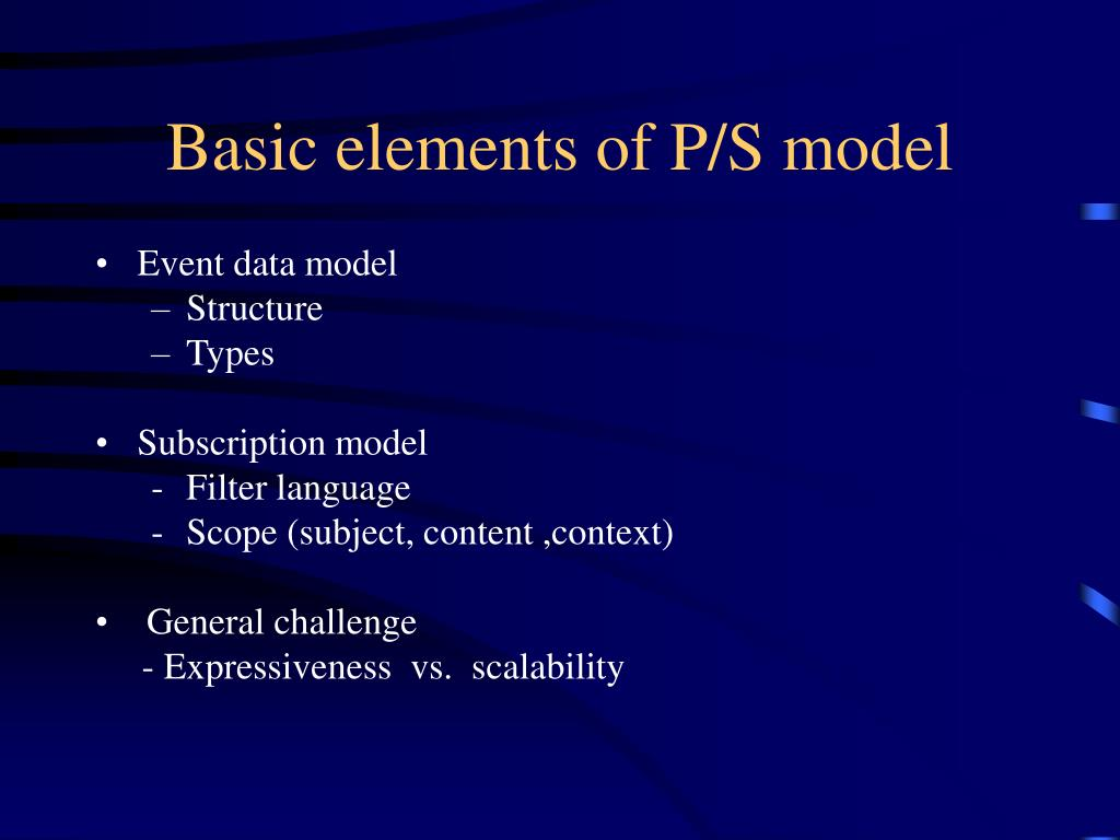 Basic elements of P/S model