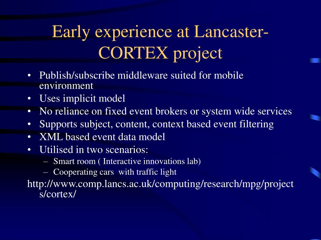 Early experience at Lancaster-