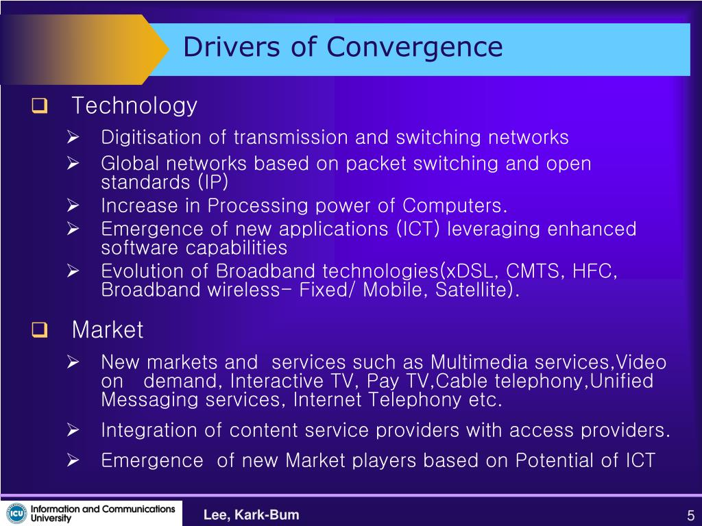 Drivers of Convergence