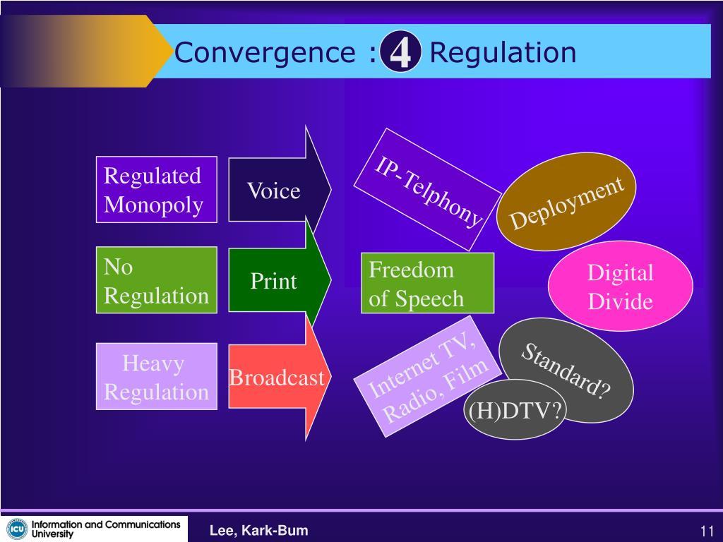 Convergence :     Regulation