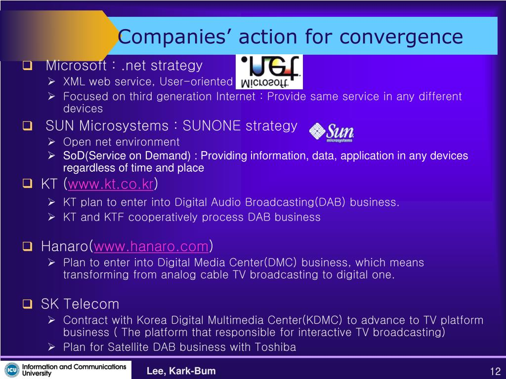 Companies' action for convergence