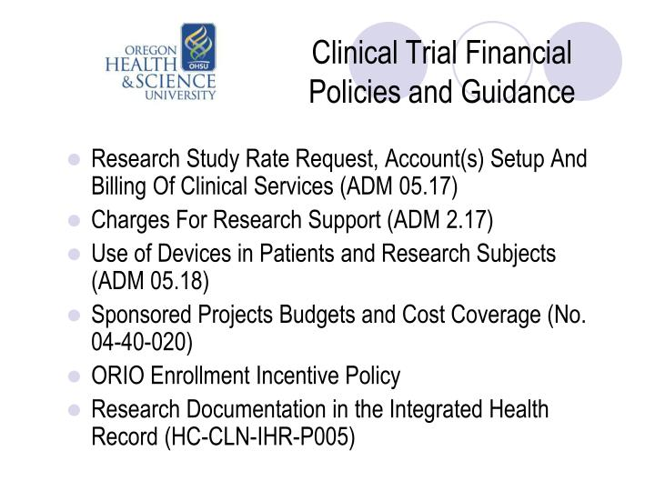 Clinical Trial Financial