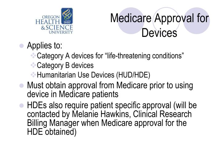 Medicare Approval for Devices
