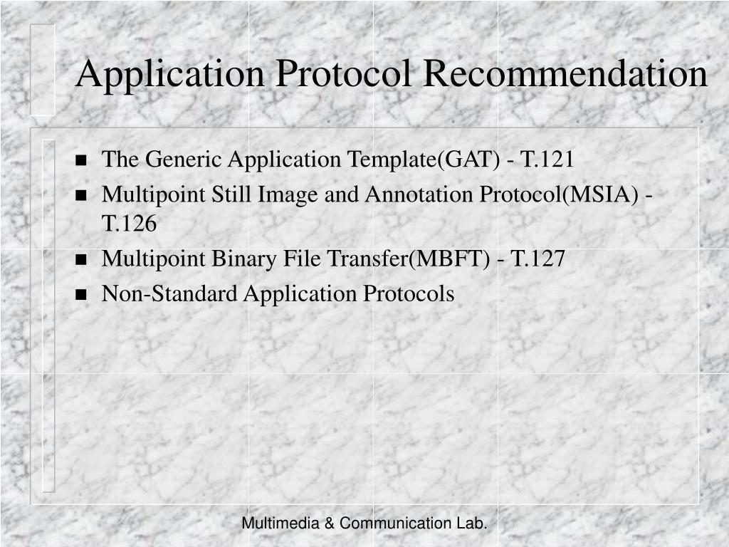 Application Protocol Recommendation