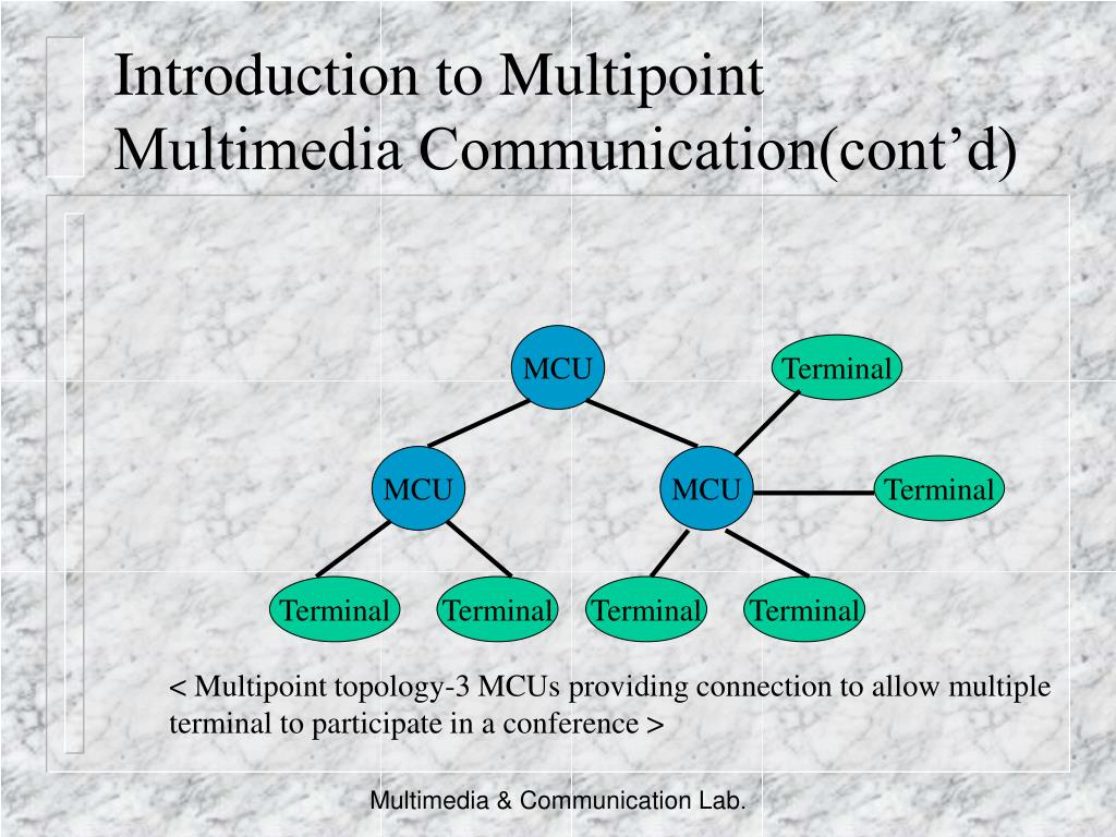 Introduction to Multipoint Multimedia Communication(cont'd)
