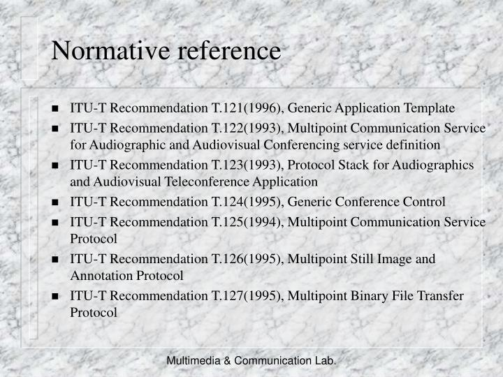 Normative reference