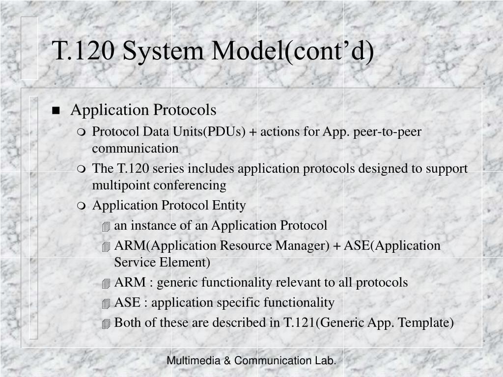 T.120 System Model(cont'd)