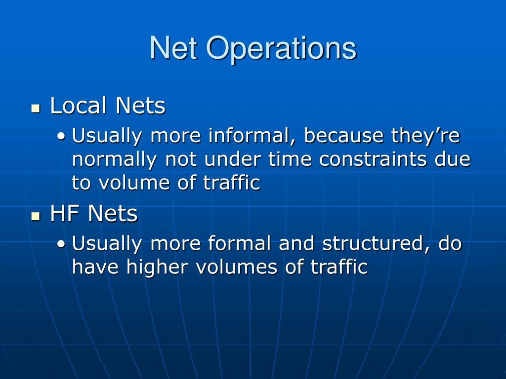 Net Operations