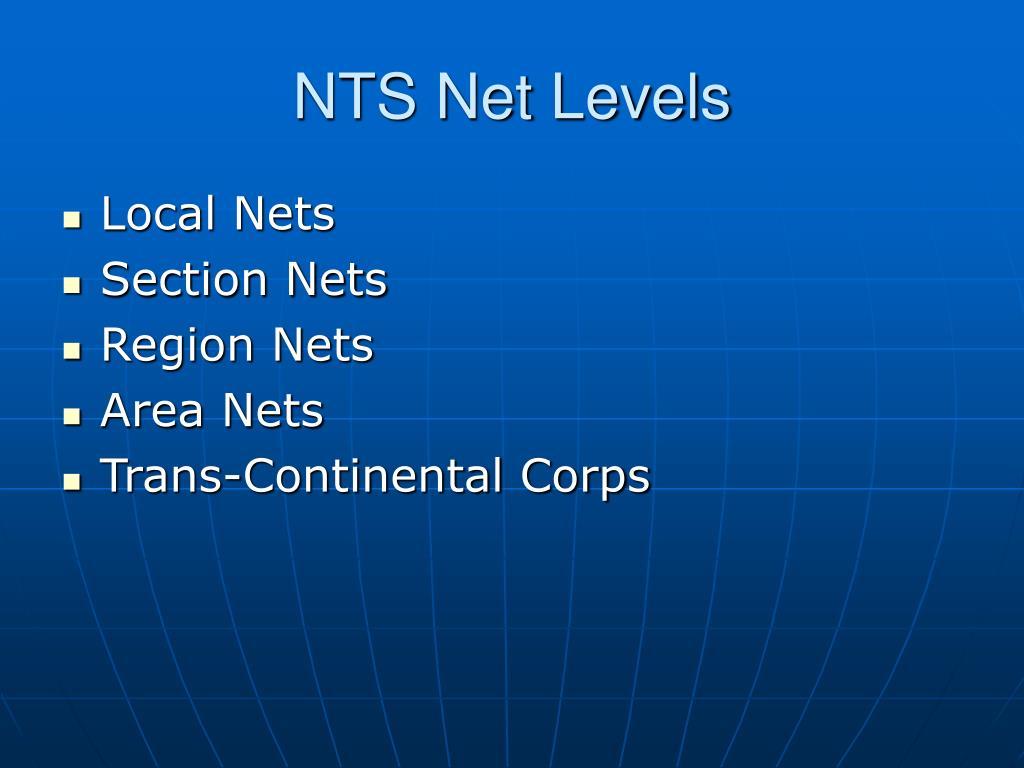 NTS Net Levels