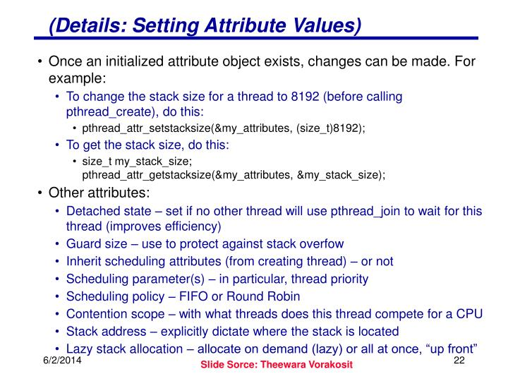 (Details: Setting Attribute Values)