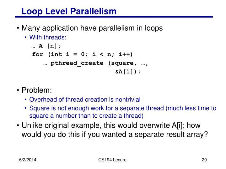 Loop Level Parallelism