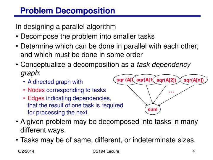 Problem Decomposition