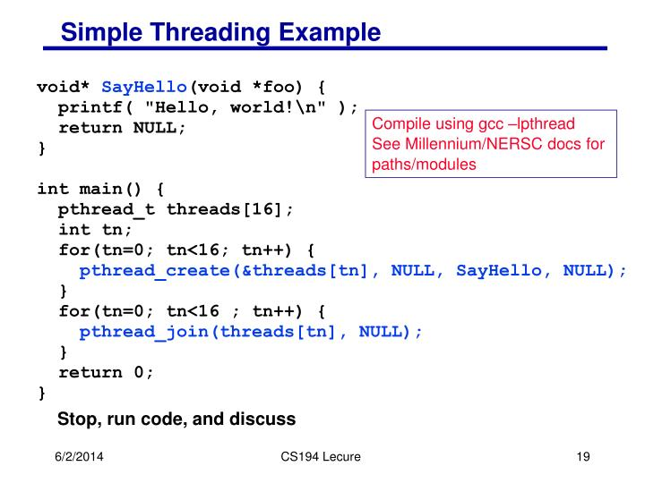 Simple Threading Example