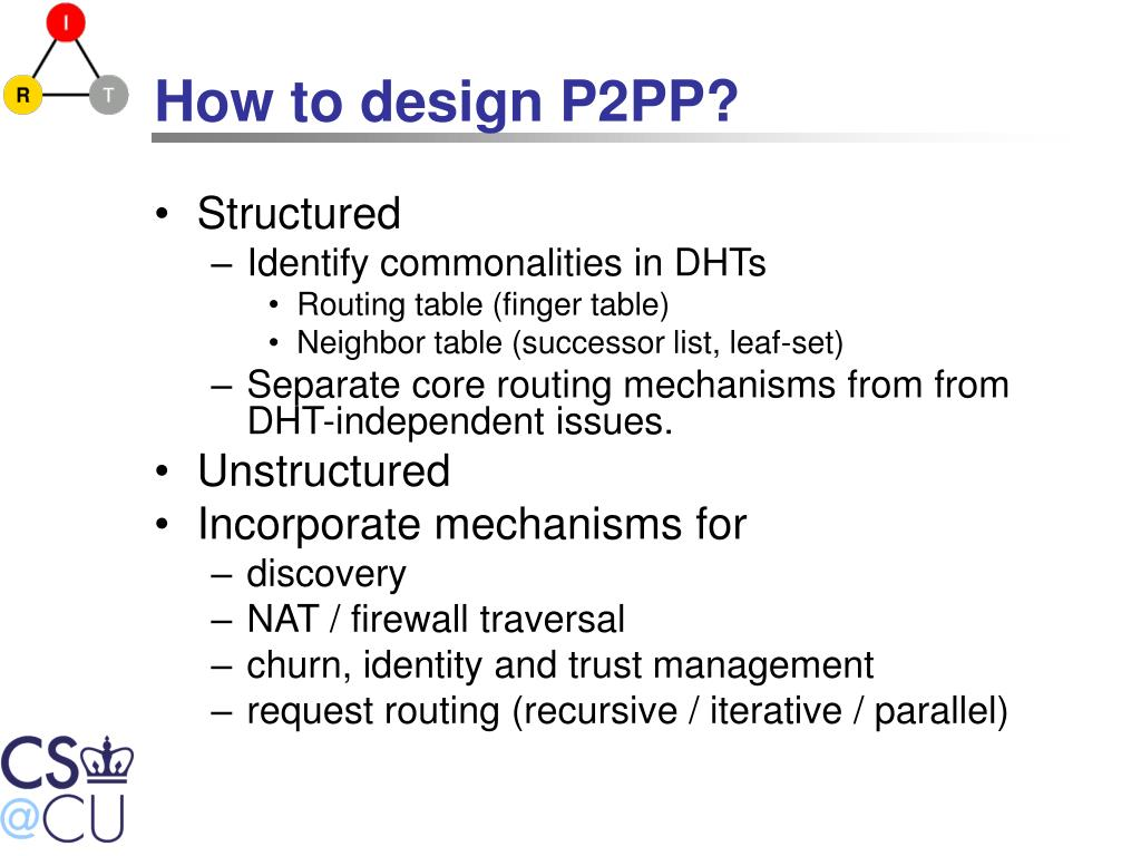 How to design P2PP?