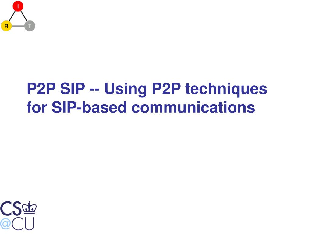 P2P SIP -- Using P2P techniques for SIP-based communications