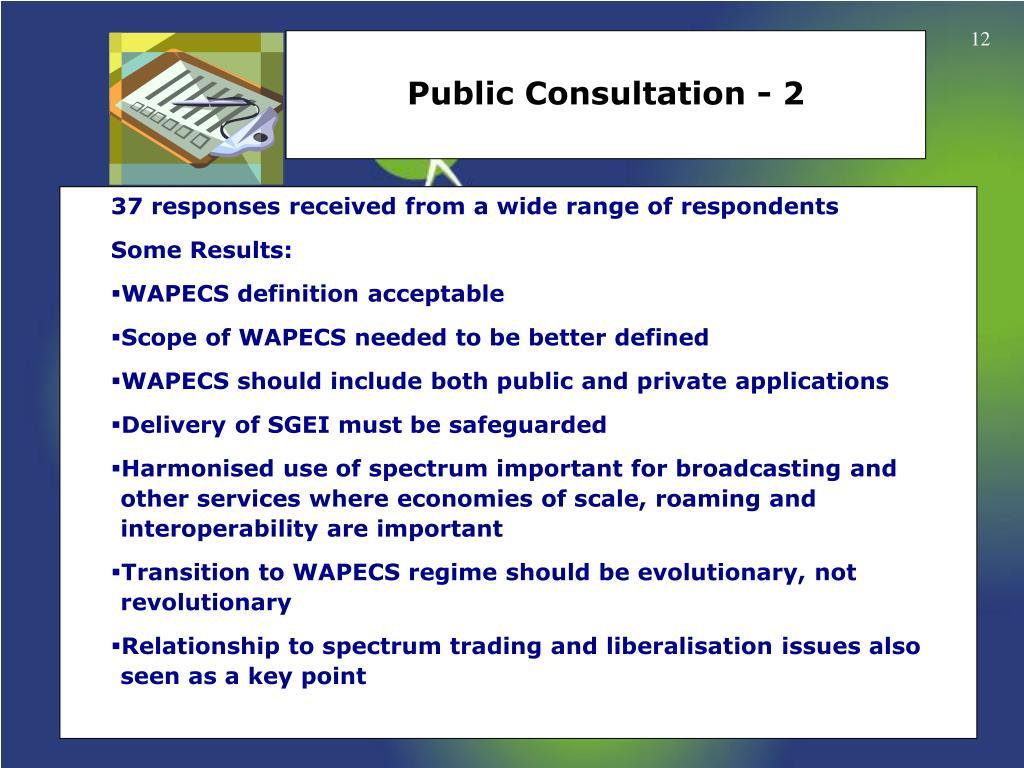 Public Consultation - 2