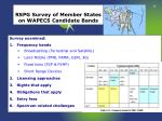 rspg survey of member states on wapecs candidate bands