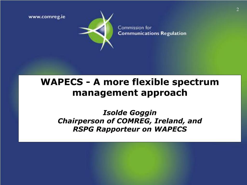 WAPECS - A more flexible spectrum
