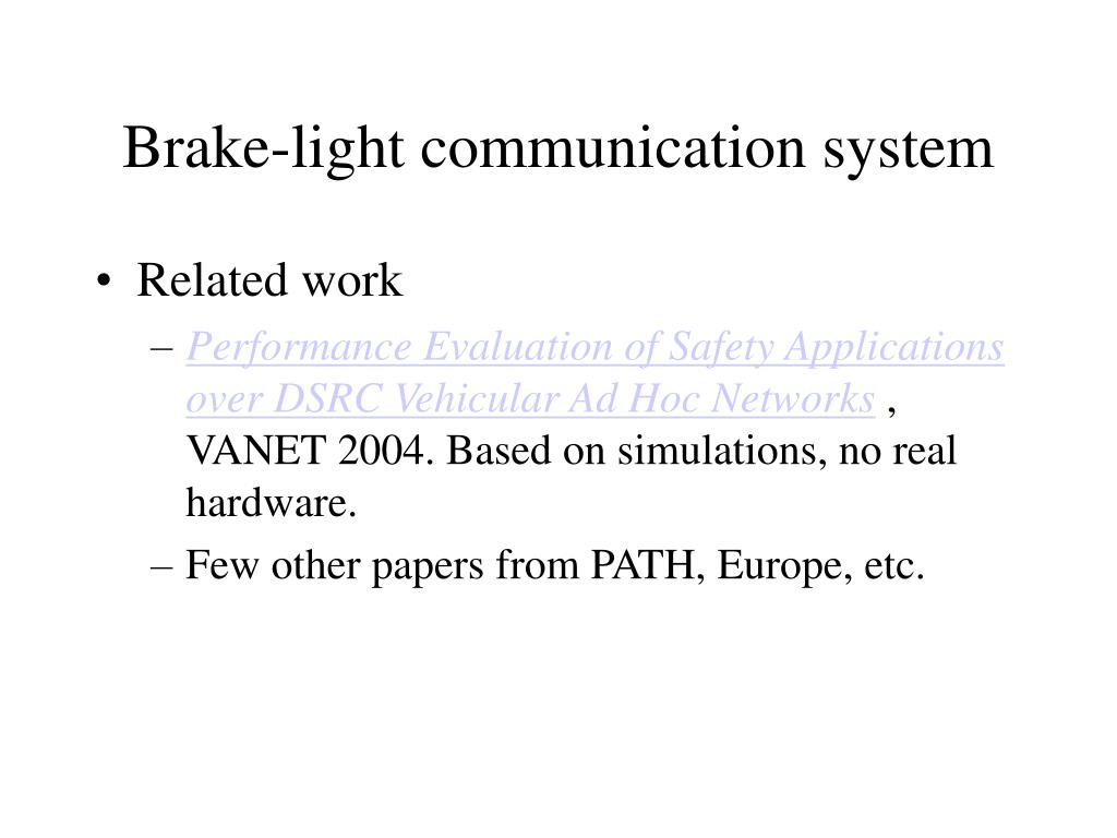 Brake-light communication system