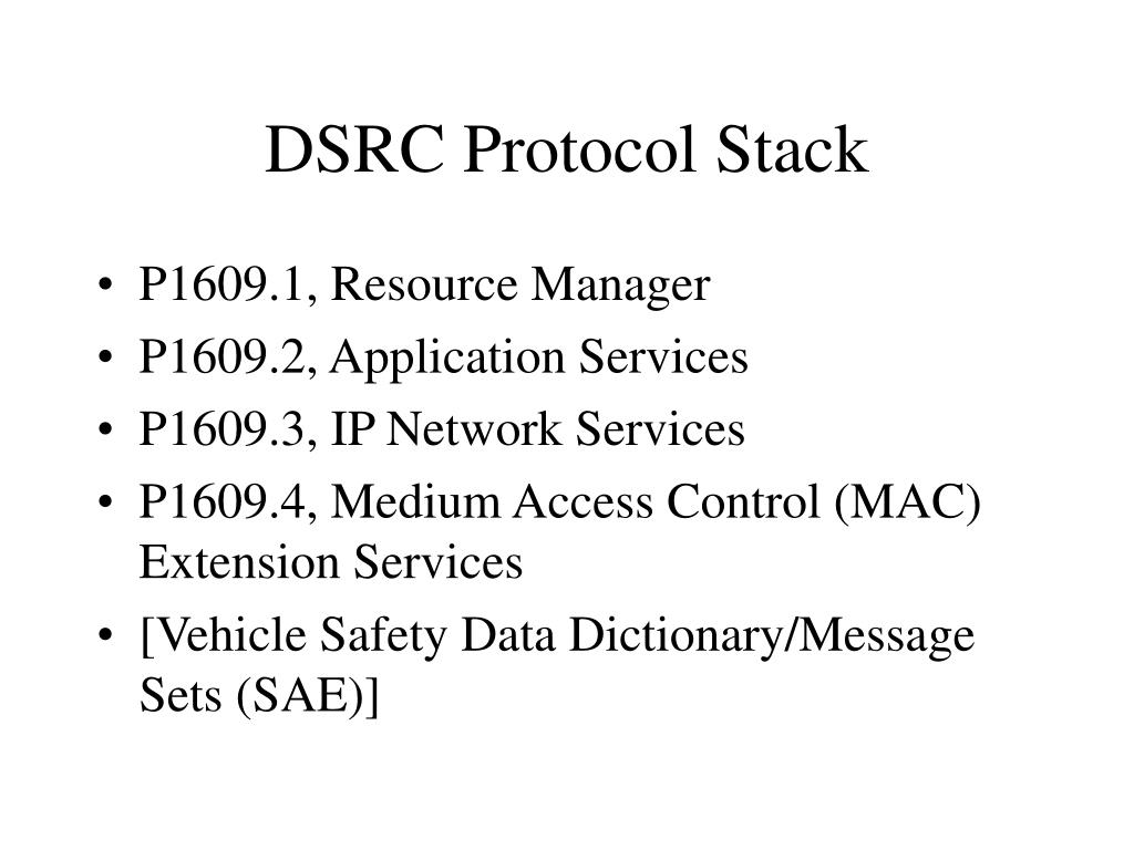 DSRC Protocol Stack