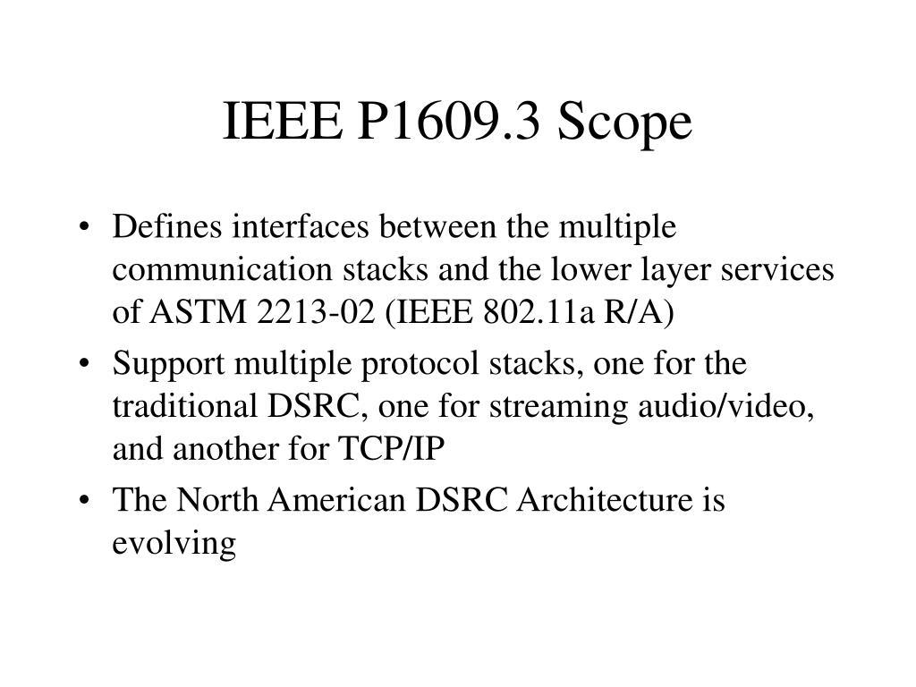 IEEE P1609.3 Scope